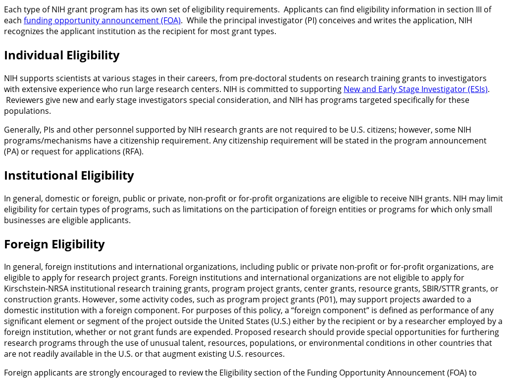 Rss Feeds And Syndicated Content Grants Nih Gov